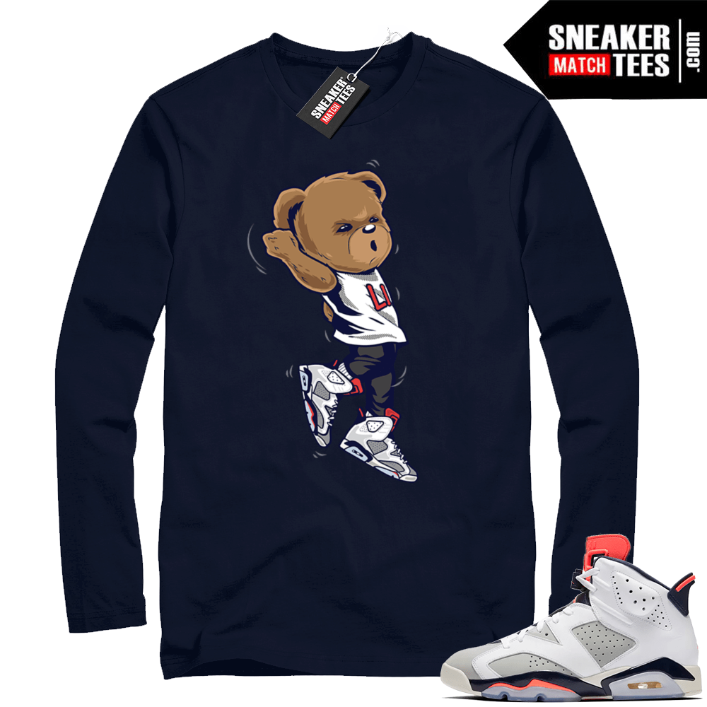 best sneakers d4503 65bac Match Jordan 6 retro Tinker | Shootin Bear | Navy Long Sleeve shirt