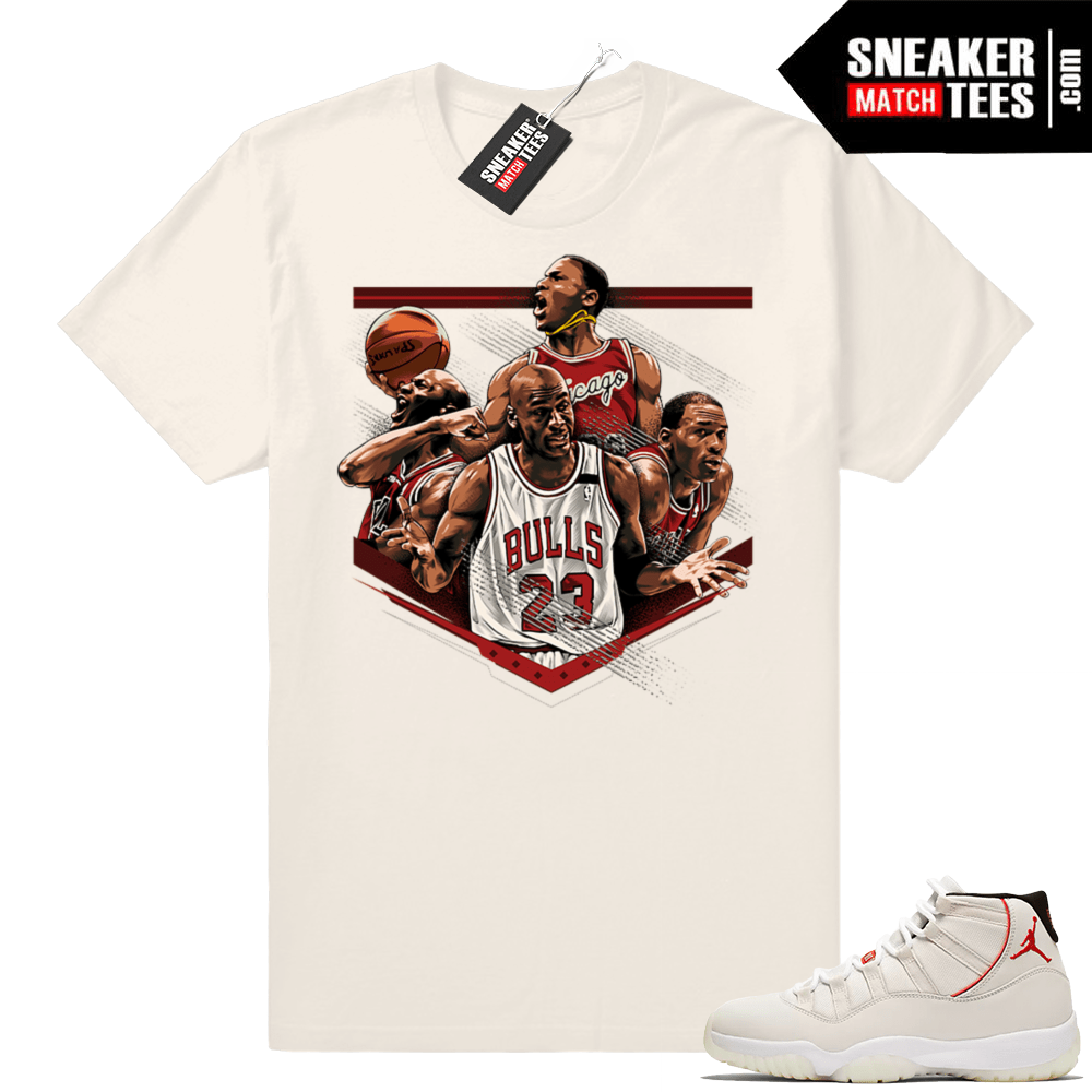 online store 158b3 31def Match Platinum Tint 11 Jordan | MJ tribute | Light Cream shirt