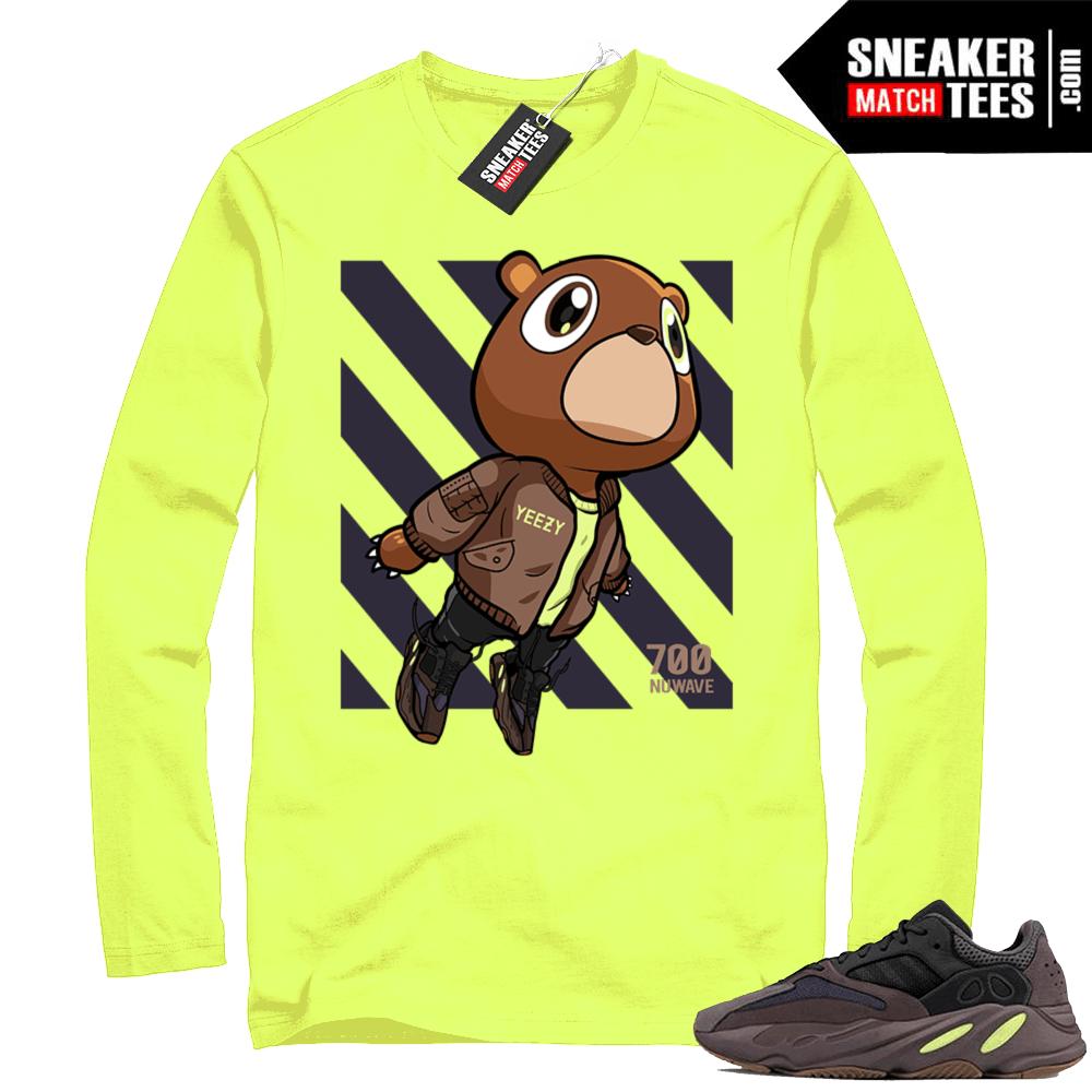 cheap for discount e462f 42503 Mauve 700 Yeezy | Boost Bear | Volt Long Sleeve Shirt