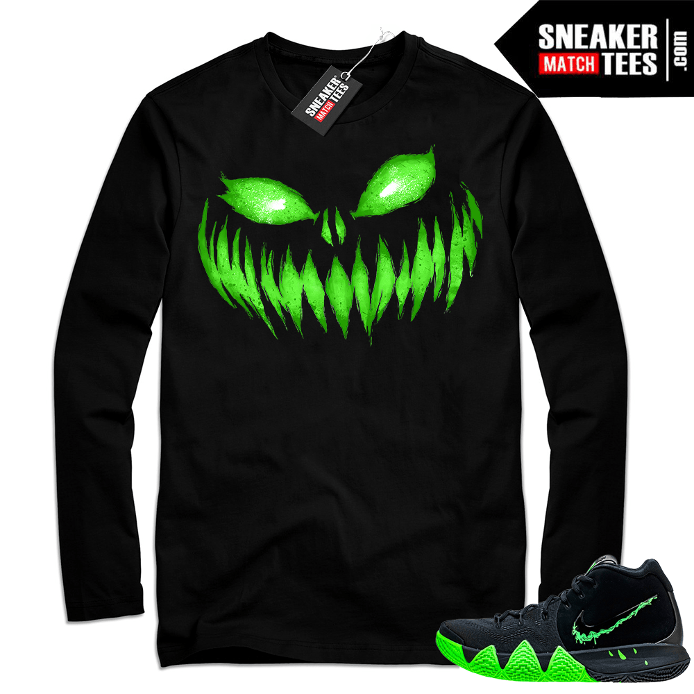 cheap for discount 24ba7 42e63 Nike Kyrie 4 Halloween | Jack-o-Smile | Black Long Sleeve shirt