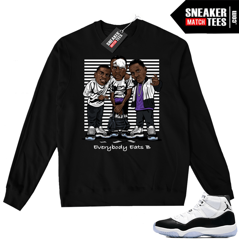 5c2ba2e3d000 Air Jordan 11 Concord Black Sweater