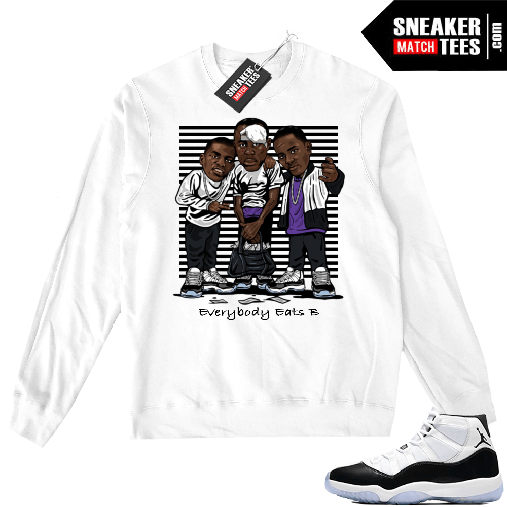 779f62db0b6696 Air Jordan 11 Concord White Sweater