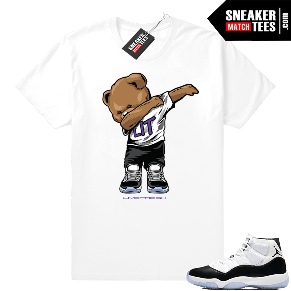 best website 1e82b 59117 Air Jordan retro 11 shirt concord white