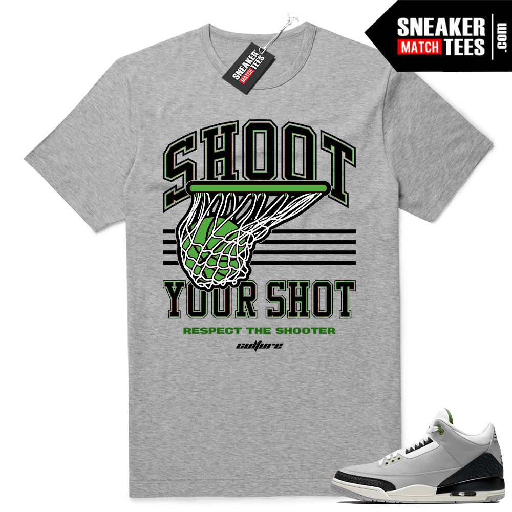 Chlorophyll 3s sneaker tees match