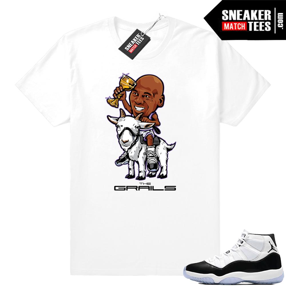 93220c93a902 Jordan 11 Concord Grails White t-shirt