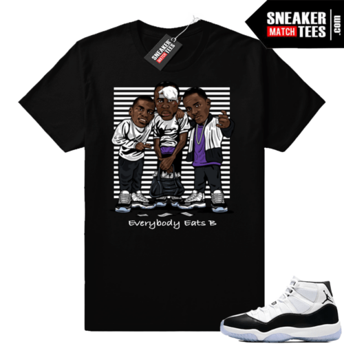 Jordan 11 Concord T-shirt Paid In Full