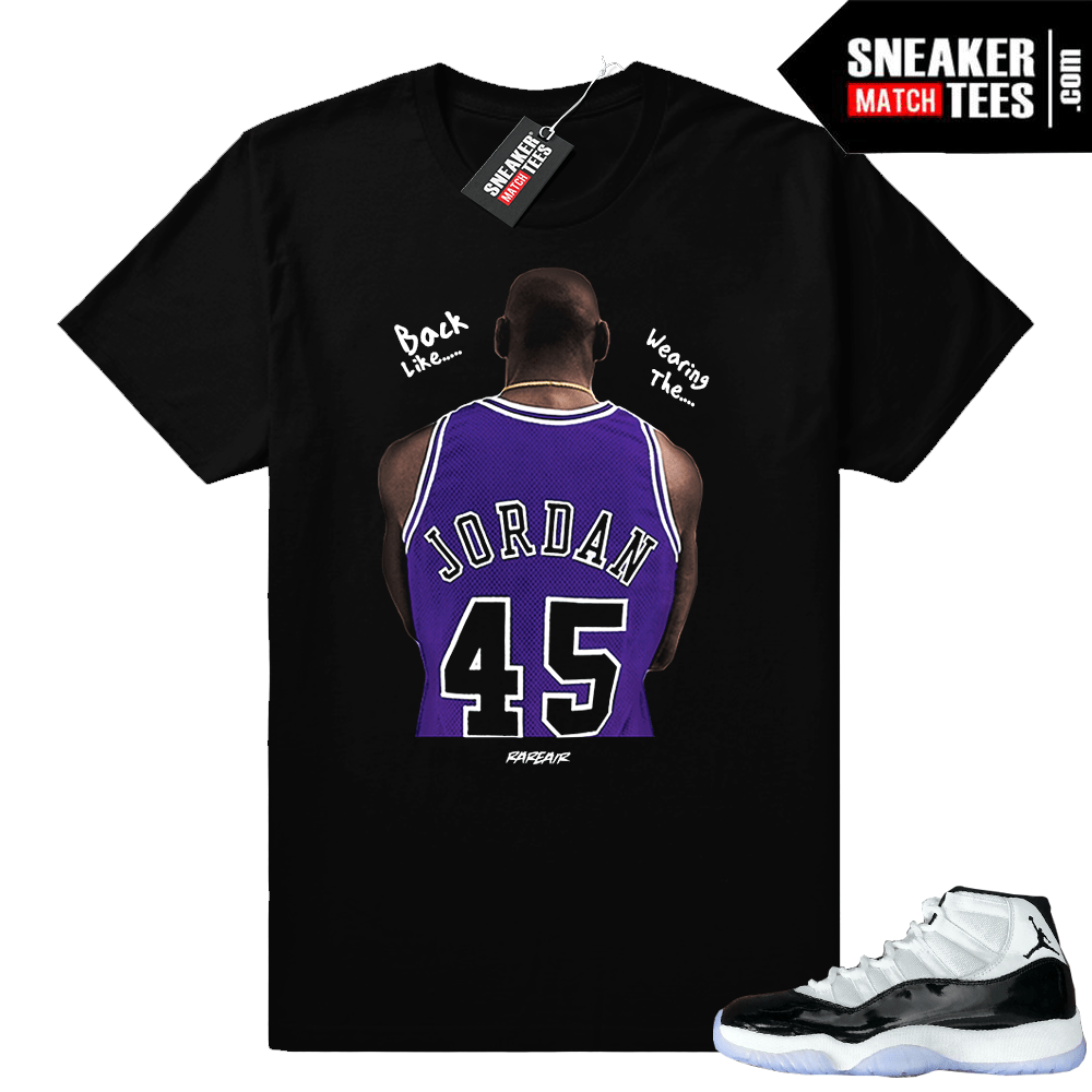 c75077886ca3 Jordan 11 Concord t-shirt Jordan 45