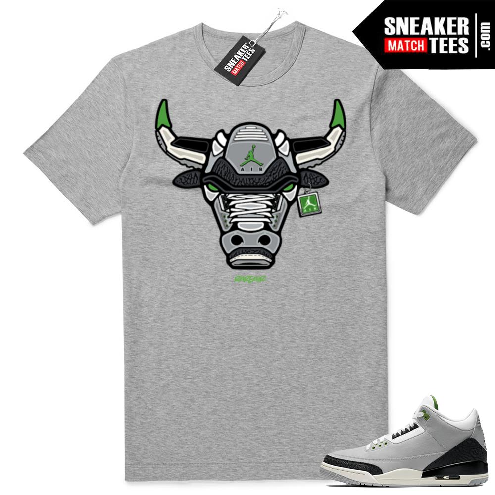 9bef3109f482 Jordan 3 Chlorophyll shirts match sneakers