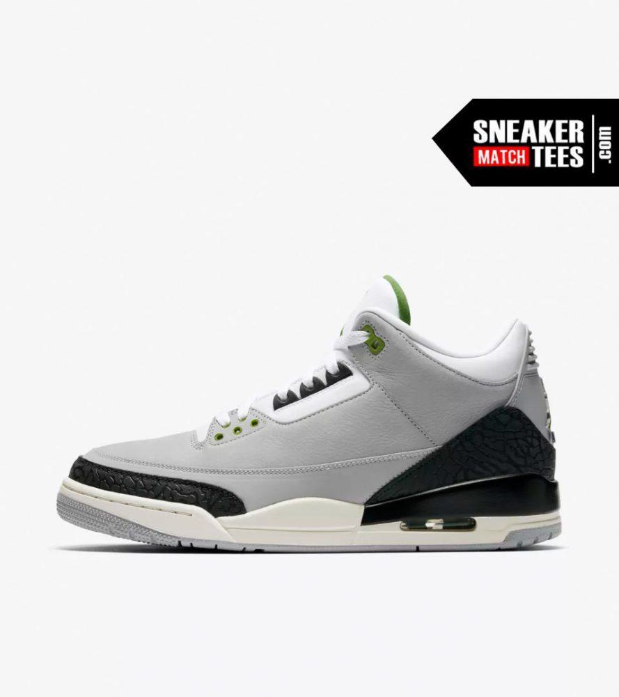 208d176fbf1 Jordan 3 Chlorophyll shirts match sneakers