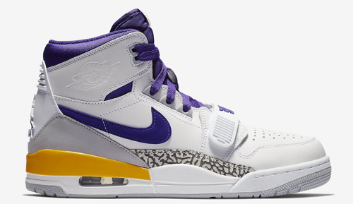Jordan release dates Legacy 312 Lakers