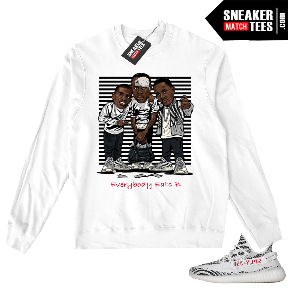 Yeezy Boost Zebra White Sweater