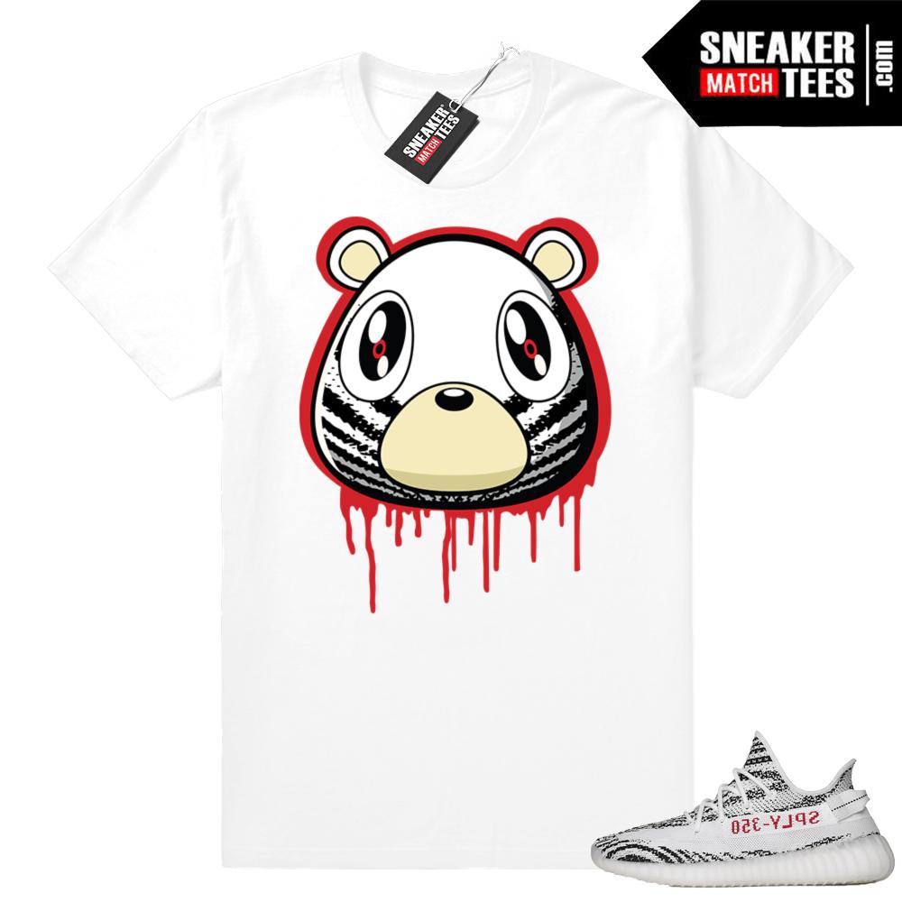 3ab5e89ae9a80 Zebra Yeezy Boost 350 t-shirt
