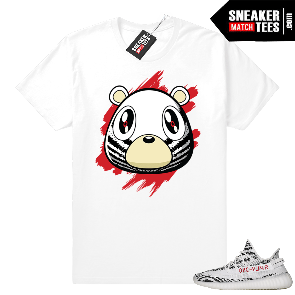 Zebra Yeezy Boost Bear t-shirt