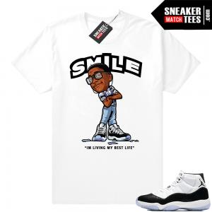 0e279650f084 Air Jordan 11 Concord Smile Erkel T-shirt