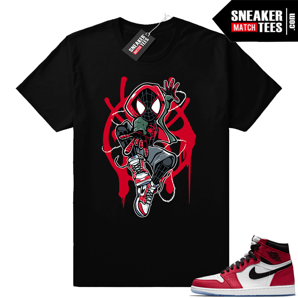 newest 80d2a 602d3 Jordan 1 Spider-man | Into the Verse Spidey | Black shirt