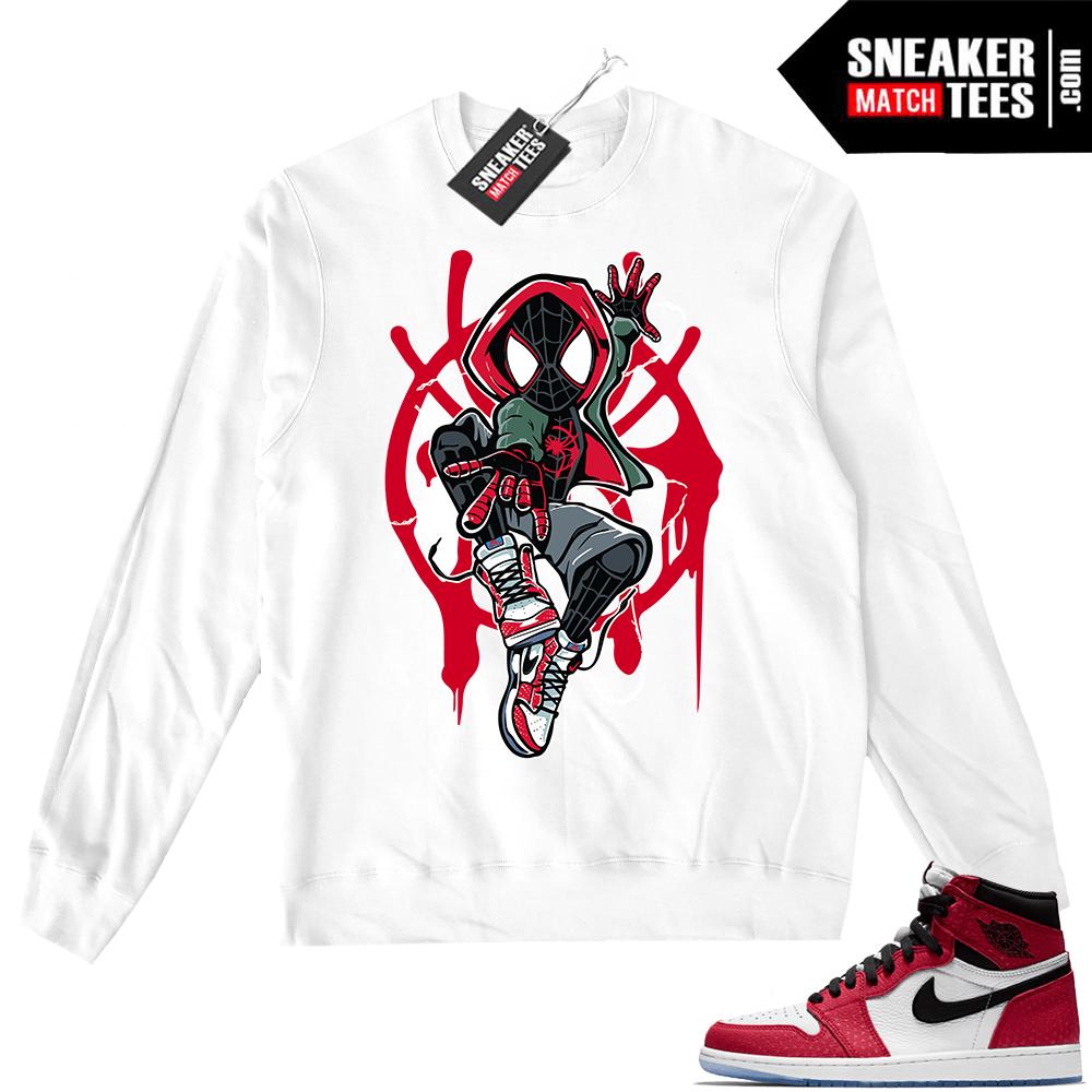 e62dd6ccbf04 Jordan 1 Spider-man White Crewneck Sweater