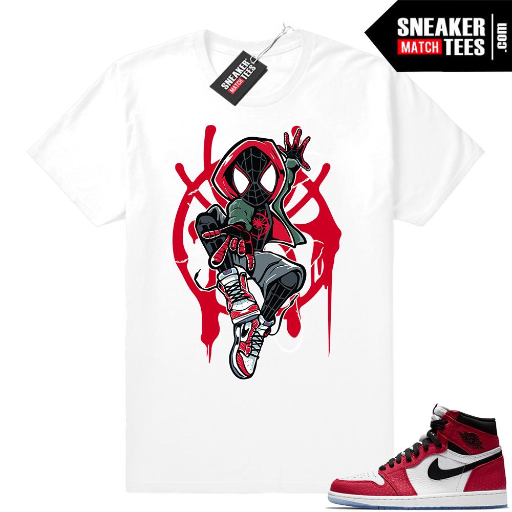 7dbc2a0e091e8c Jordan 1 Spider-man white t-shirt
