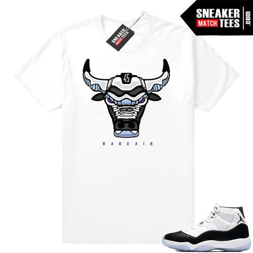 Jordan 11 Concord Bull tee shirt