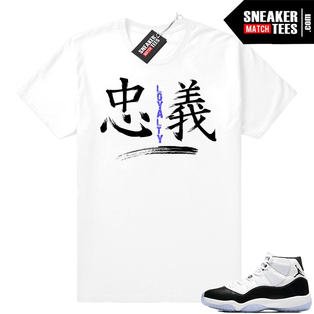 promo code bce06 58093 Concord 11 Jordan | Loyalty | White shirt