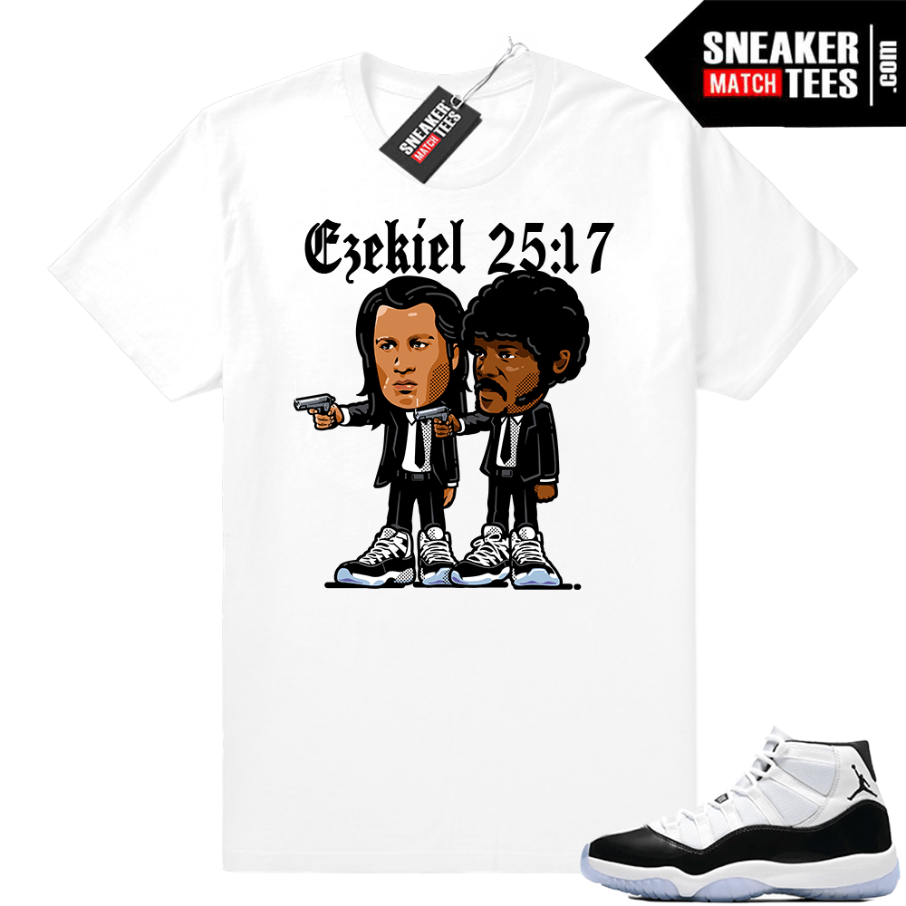 98b9694ed78939 Jordan 11 Concord Pulp Fiction t-shirt