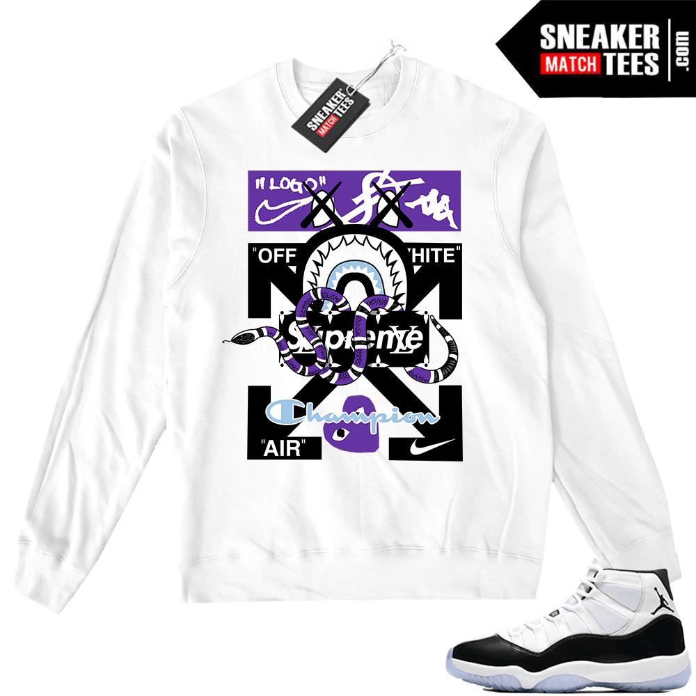 36211fe039e0 Jordan 11 Crewneck Sweater Designer Mashup