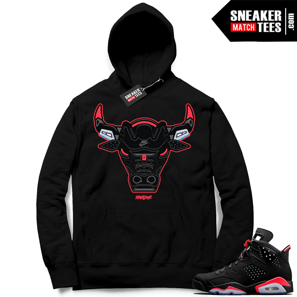 detailed pictures 378b9 ee44f Infrared 6s Black | Rare Air Bull | Black Hoodie