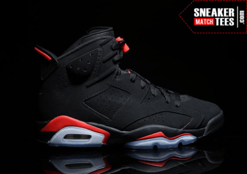 buy online 3874f d13ed Black Infrared 6s shirts match sneakers  2