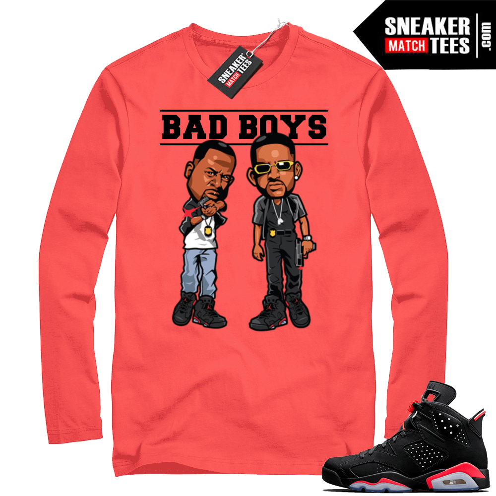 2a21877c Infrared Jordan 6 long sleeve shirt | Jordan Sneaker Clothing
