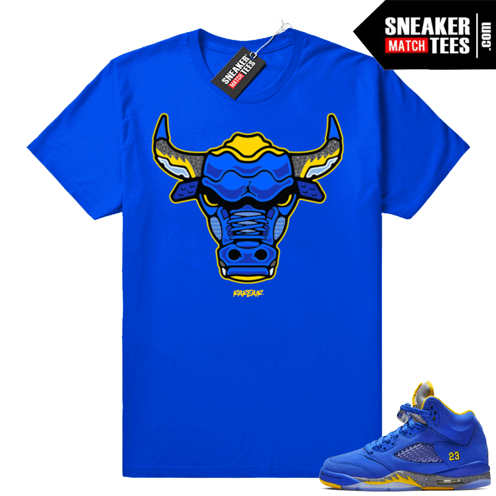 db3bf70991d Jordan 5 JSP Laney Royal shirt | Jordan Sneaker Clothing