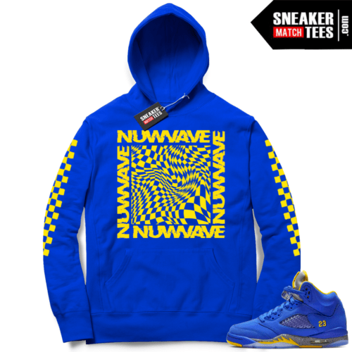 Jordan 5 Laney NuWave Checkered Hoodie