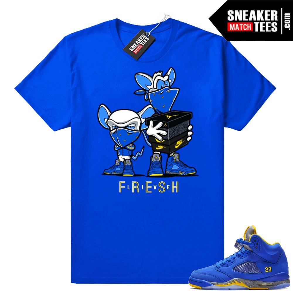 dfa0dea570c94c Jordan 5 Laney Royal Shirts Match Sneakers