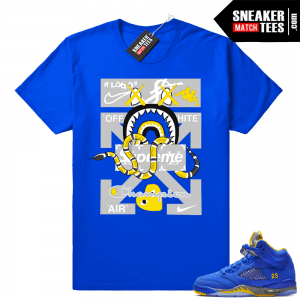 9a818c3d3bfe7a Jordan 5 Varsity Royal sneaker tees