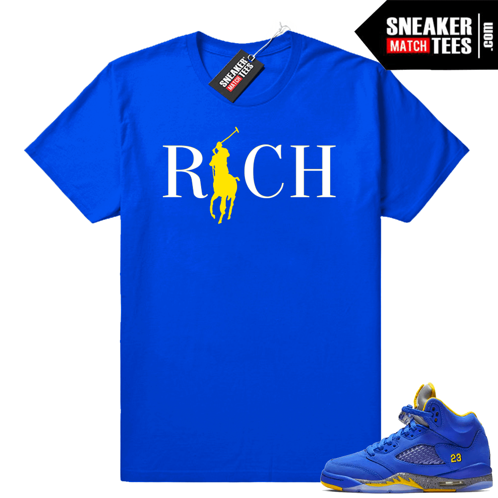 b276362f9cae Jordan 5 laney varsity royal shirts