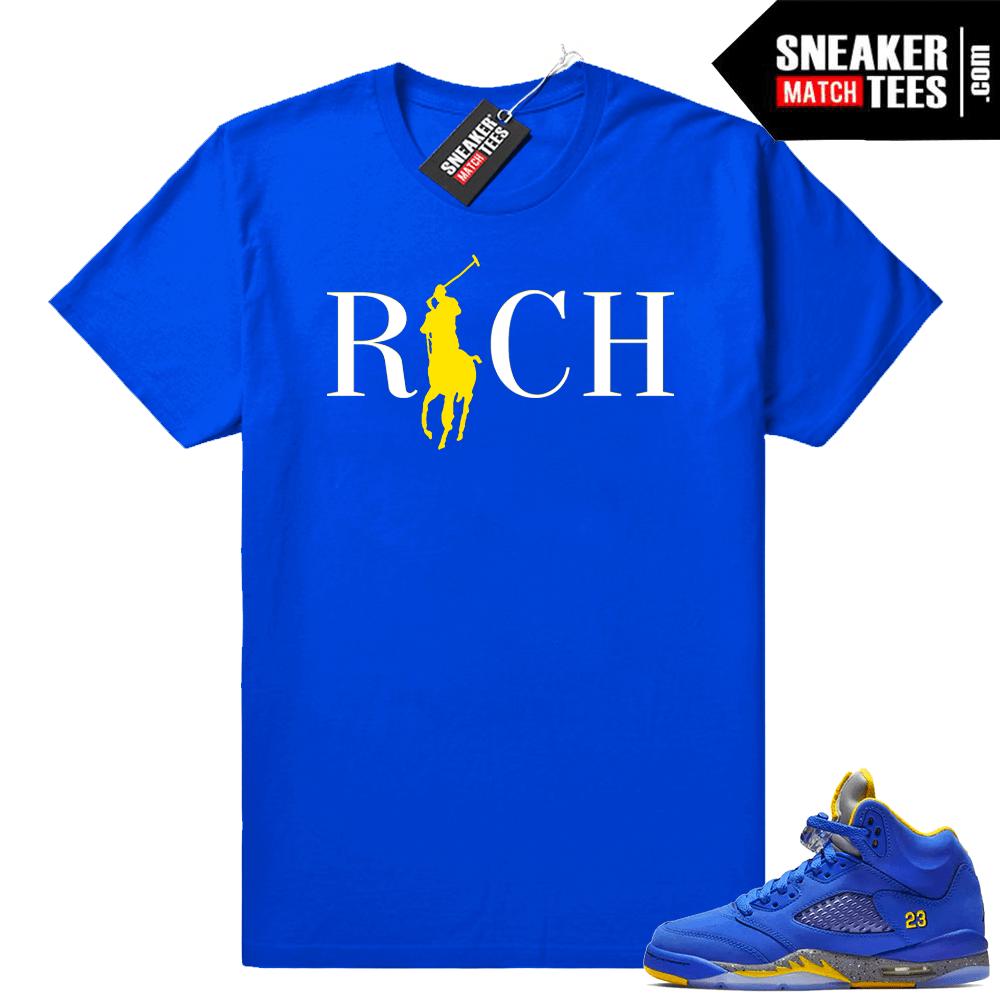 0cefcde0e0a69c Jordan 5 laney varsity royal shirts