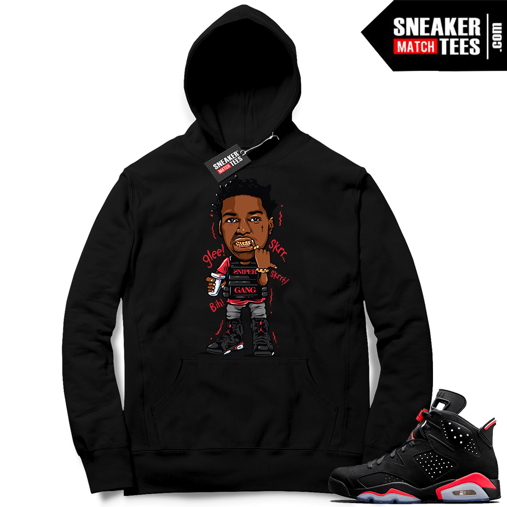 Infrared 6s Sneaker tees to match Jordan Retro 6 shoes