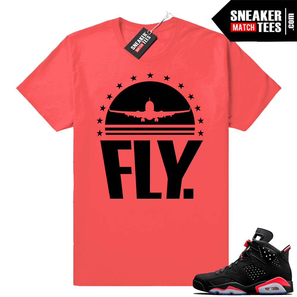 1df8893217a0f1 Infrared 6s Sneaker tees to match Jordan Retro 6 shoes