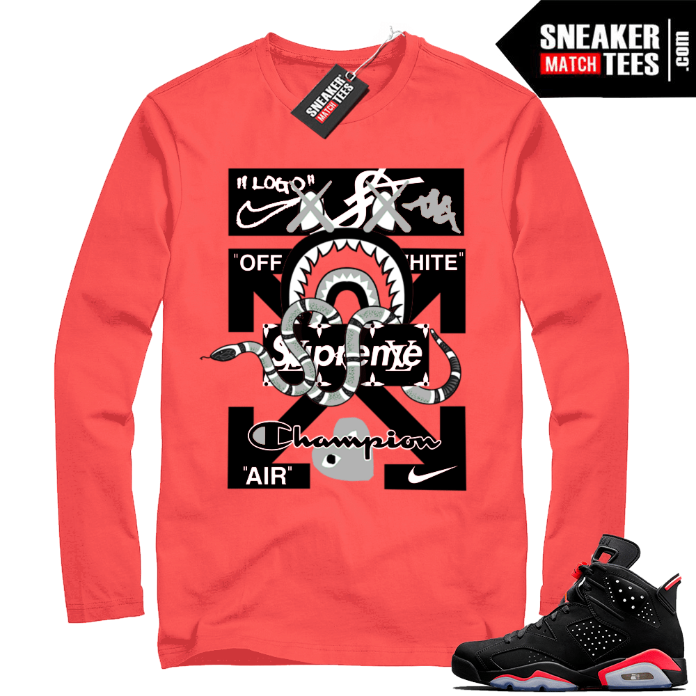 2cc32ab6918eb1 Jordan retro 6 shirts infrared