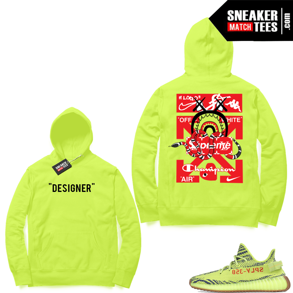 94743d7416a5 Yeezy Frozen Yellow matching clothing
