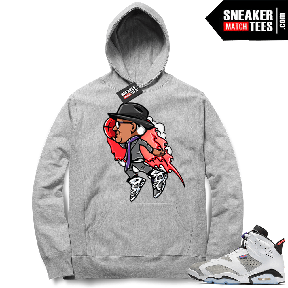633614670c9 Air Jordan 6 Flint Grey Tinker Flight Hoodie | Sneaker Match Tees ...