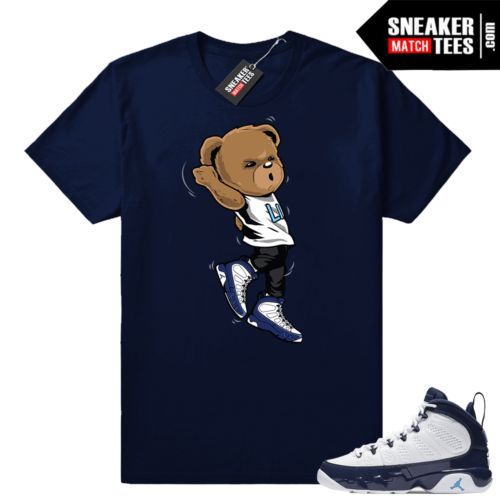 Air Jordan 9 UNC Shootin Bear shirt