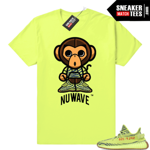 Frozen yellow sneaker tees