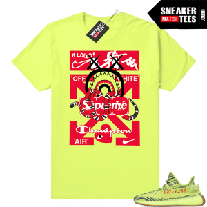 Frozen Yellow Yeezy shirts and clothing designed to match