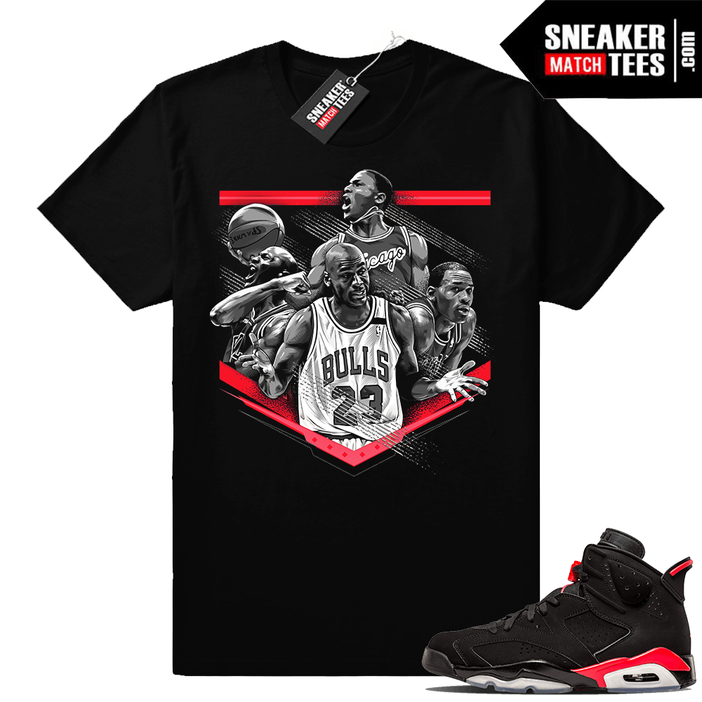 Infrared 6s matching sneaker tees clothing