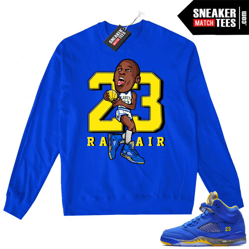 94114dae401757 Jordan 5 Laney Highschool MJ sweater
