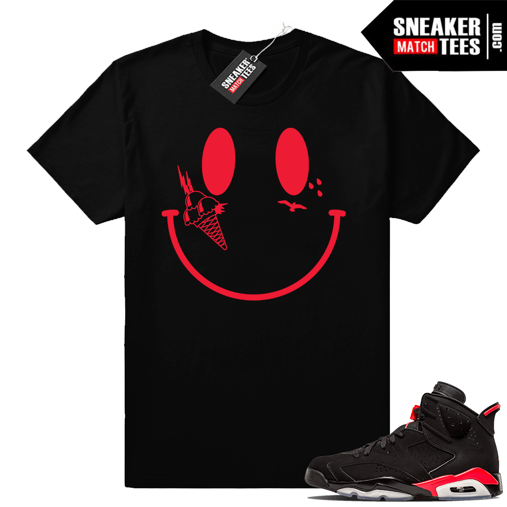 10eba4eb855 Jordan 6 infrared sneaker tees Gucci mane smiley
