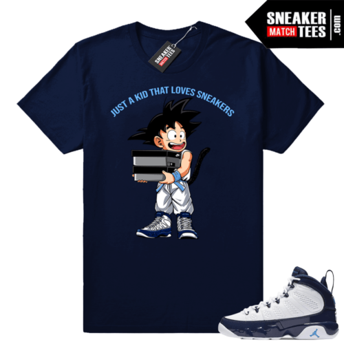 Jordan 9 UNC Just a Kid shirt