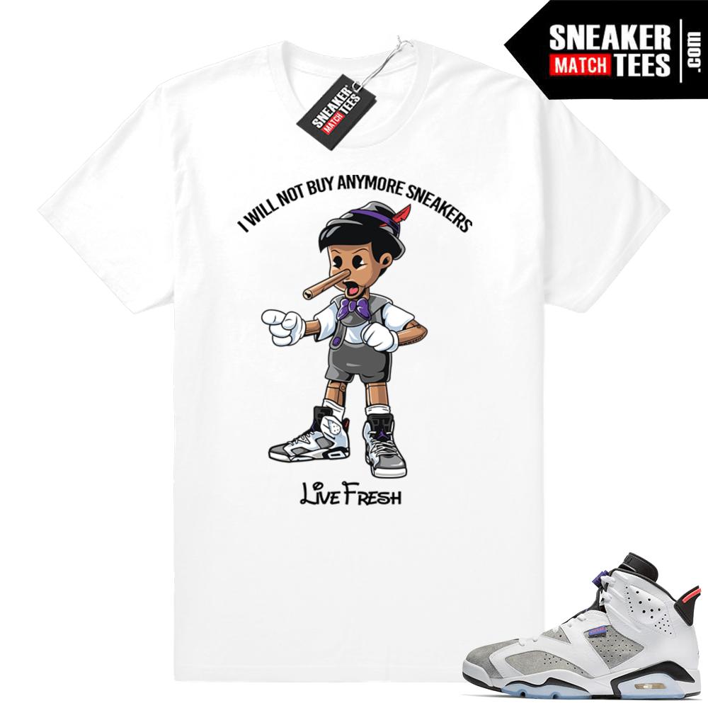 e66cf8963c9a ... Jordan 6   Flint 6s · Sneakerhead Pinocchio t shirt