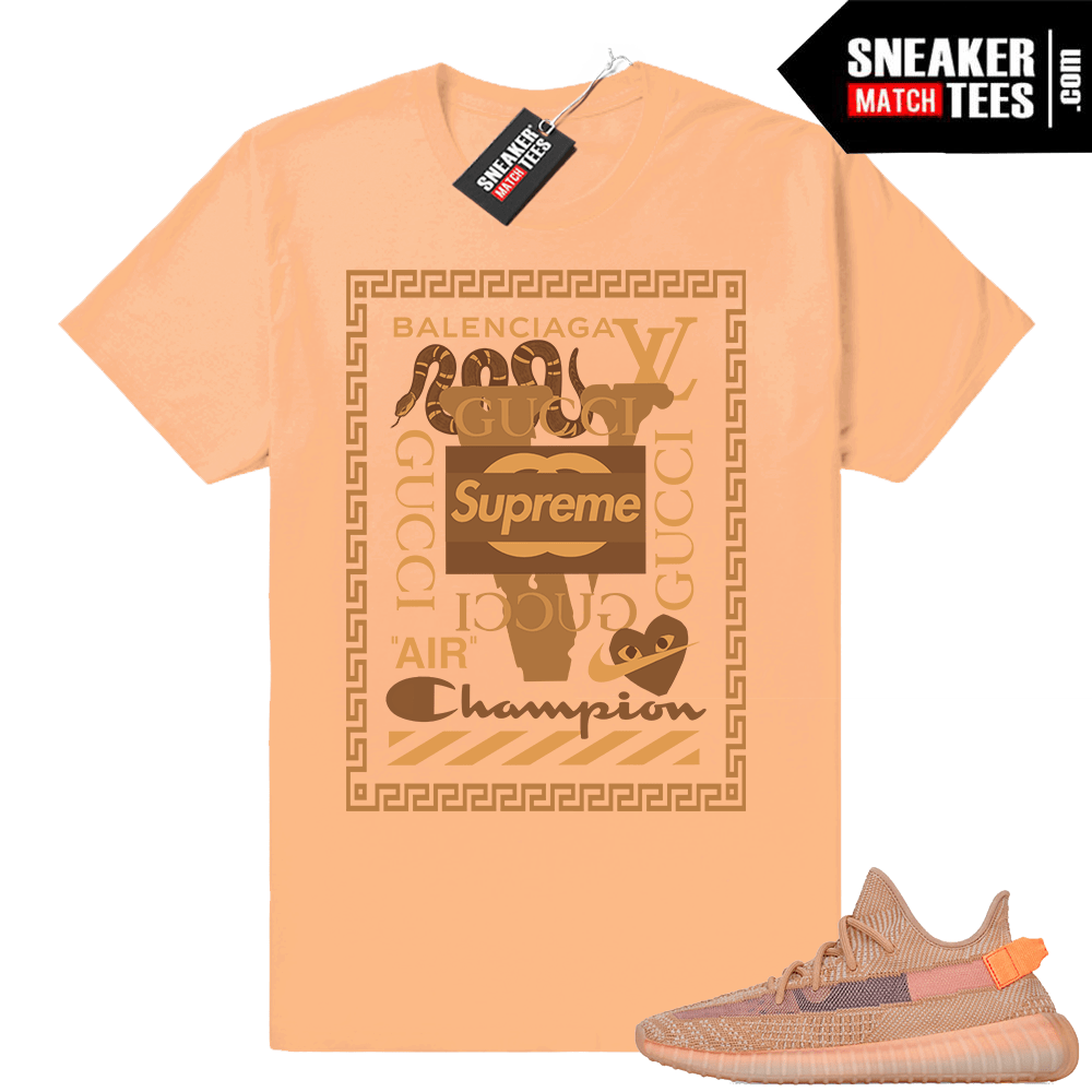Clay Yeezy shirt matching sneakers