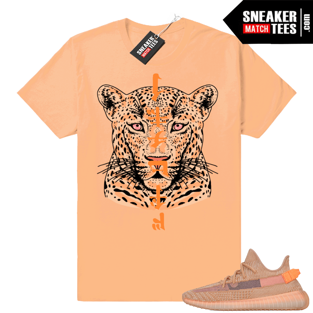 Clay sneaker tees match Yeezys