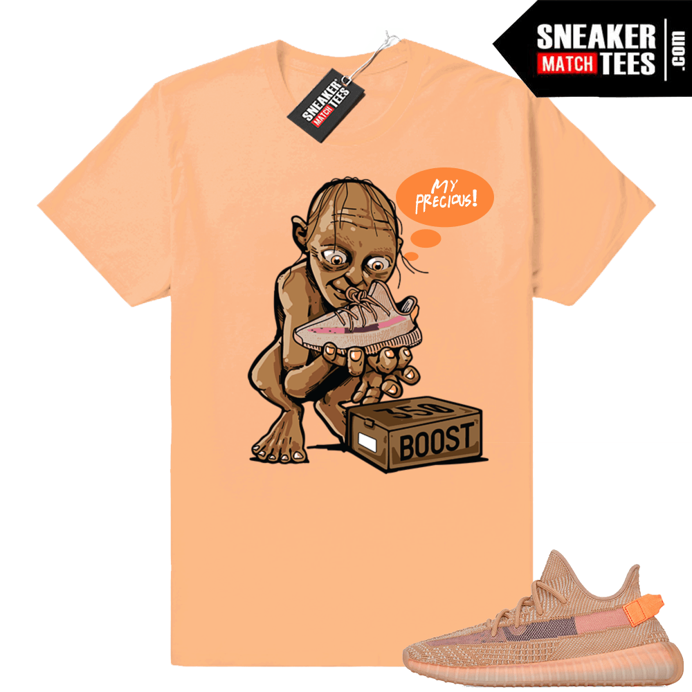 Clay yeezy sneaker match tees